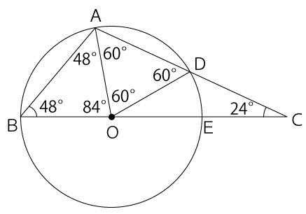 円と正三角形
