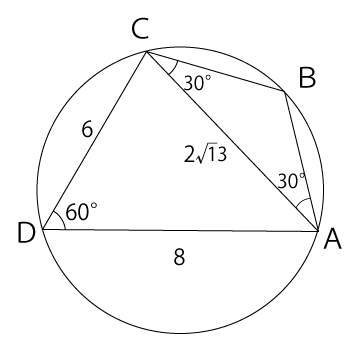 円に内接する三角形の面積