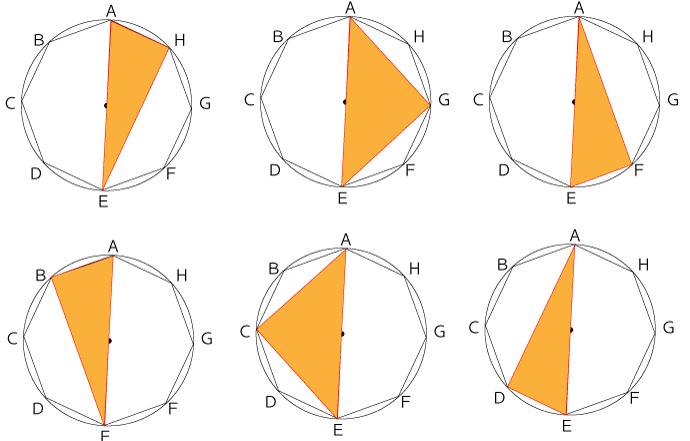 円に内接する直角三角形