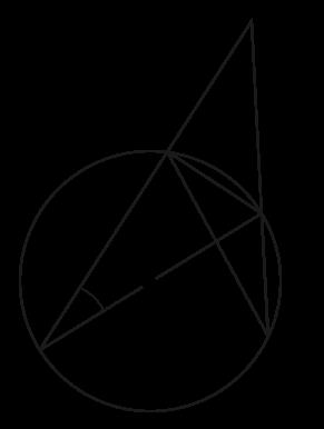 円と三角形