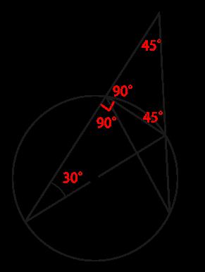 円周角の定理を使った角度