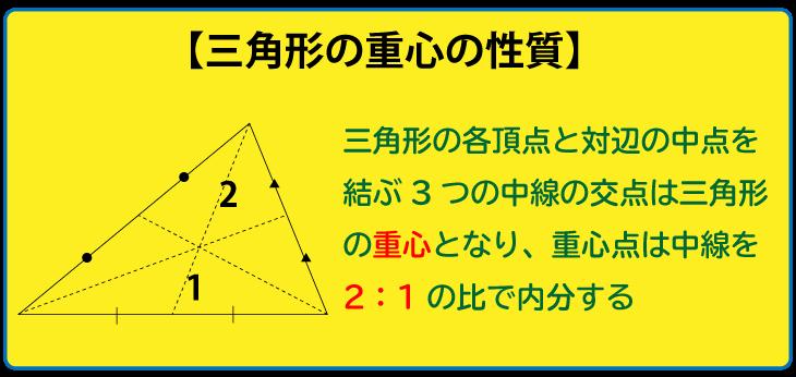 三角形の重心の性質