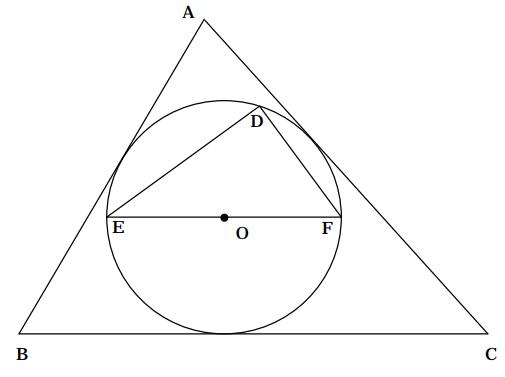 三角形と内接する円