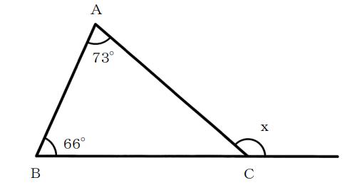 三角形の外角
